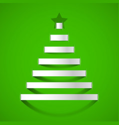 christmas tree greeting card design element vector image