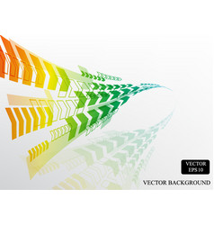 colorful rainbow arrow curve pattern background vector image