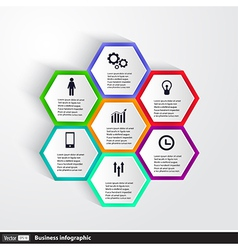 Conceptual Design template infographics element vector image