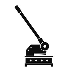 cutting machine icon simple style vector image