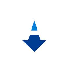 down arrow abstract letter a logo icon concept vector image