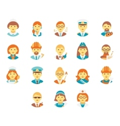 Faces People of Different Professions vector