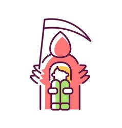 Fear of death rgb color icon vector