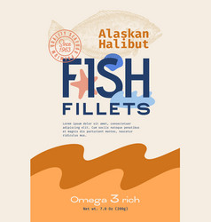 fish fillets abstract packaging design vector image