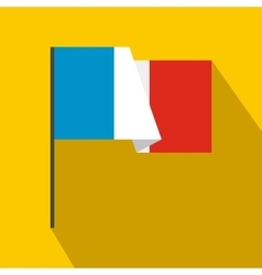 Flag of France icon flat style vector image