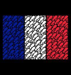 france flag mosaic of boot footprint icons vector image