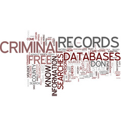 Free criminal records searches for every vector