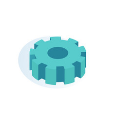 Gear mechanism isolated icon vector