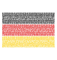 german flag collage of medieval sword items vector image