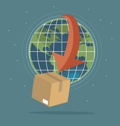 global logistics concept vector image