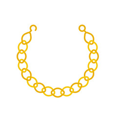 Gold chain necklace or bracelet jewelry related vector
