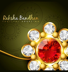 golden rakhi for rakshabandhan vector image