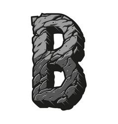 Gray letter b desert design concept vector