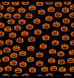 hand drawn jack-o-lantern seamless pattern vector image