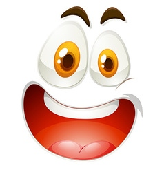 Happy face on white vector image