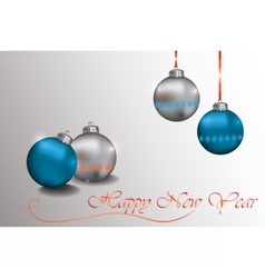 Happy New Year Sparkling baubles vector