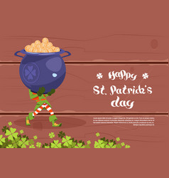 happy st patricks day template background vector image