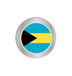 Horizontal bahamian flag is isolated vector