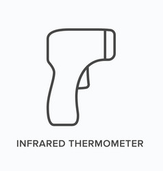 infrared thermometer flat line icon vector image