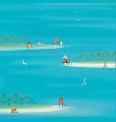 islands in ocean vector image