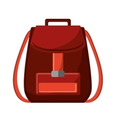 Isolated bag of baggage concept vector