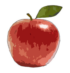 large of an apple vector image