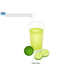 lime juice a popular dink of micronesia vector image