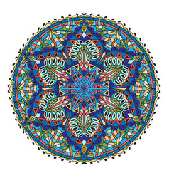Mandala colored oriental decorative flower vector