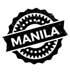 Manila stamp rubber grunge vector image