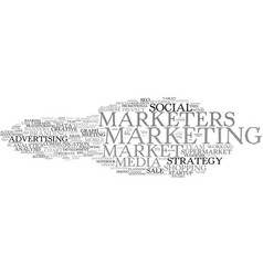 Marketers word cloud concept vector