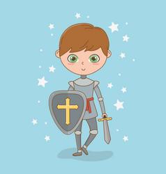 Medieval knight fairytale design vector