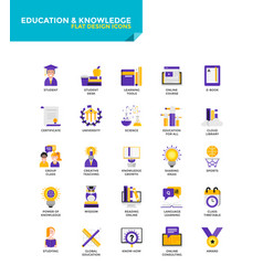 Modern material flat design icons - education vector