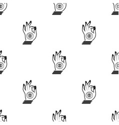 Mudra icon in black style isolated on white vector