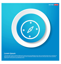 navigation compass icon abstract blue web sticker vector image