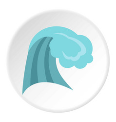 ocean wave icon circle vector image