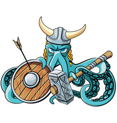 octopus the viking vector image
