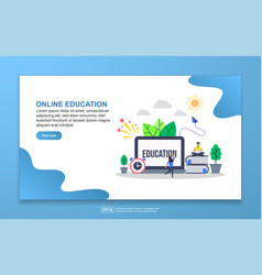 online education concept with tiny people vector image