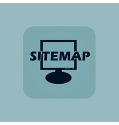 Pale blue sitemap icon vector image