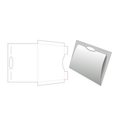 Paperboard folder die cut template vector
