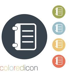 phone address book vector image