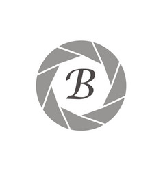 Photography service letter b vector