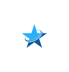 planet star logo icon design vector image