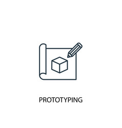 Prototyping concept line icon simple element vector