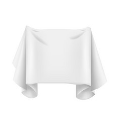 realistic detailed 3d white textile banner for ad vector image