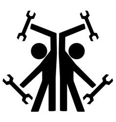 Repairmen double symbol vector