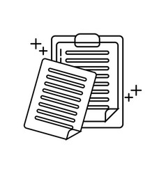 report clipboard office line icon style vector image