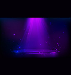 scene illuminated with purple light magic party vector image