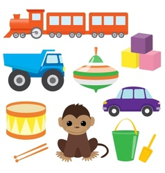 set toys 2 vector image