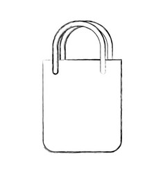 Shopping bag isolated icon vector