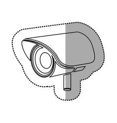 Silhouette video camera exterior icon vector